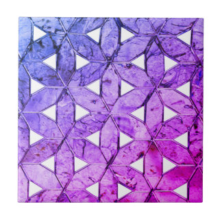 Blue pink and blue  mosaic tile
