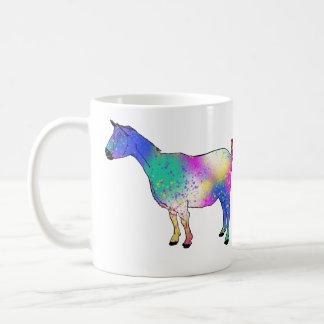 Blue Pink Aqua Animal Abstract Art Goat Design Coffee Mug