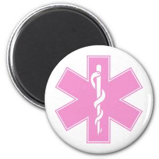 Blue Pink Aqua Baby Hot  Nurse EMS Star of Life 2 Inch Round Magnet