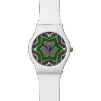Blue Pink Aztec Pattern Watch