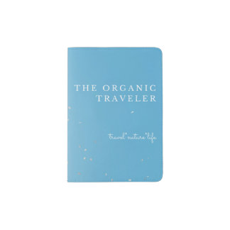 Blue & Pink Chic Passport Holder