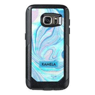 Blue & Pink Colorful Marble Swirls OtterBox Samsung Galaxy S7 Case