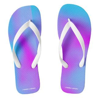 blue pink flip flops
