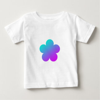 Blue/pink flower on white. baby T-Shirt