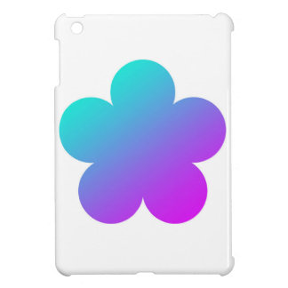 Blue/pink flower on white. case for the iPad mini