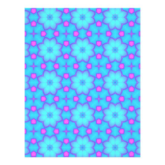 Blue & Pink Flowers Circles Scrapbook Paper Pages
