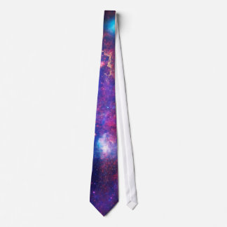 Blue Pink Galaxy Nebula Stars Ultra Violet Fire Tie