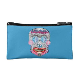 Blue/Pink Gemma Candy Skull Makeup Bag
