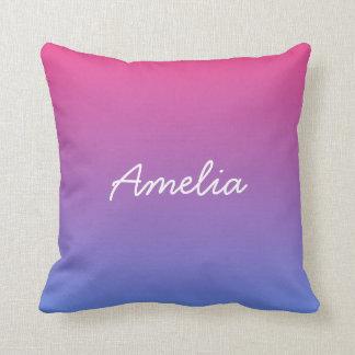 blue pink gradient cushion