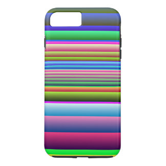 Blue Pink Green Stripes iPhone 7 Plus Case
