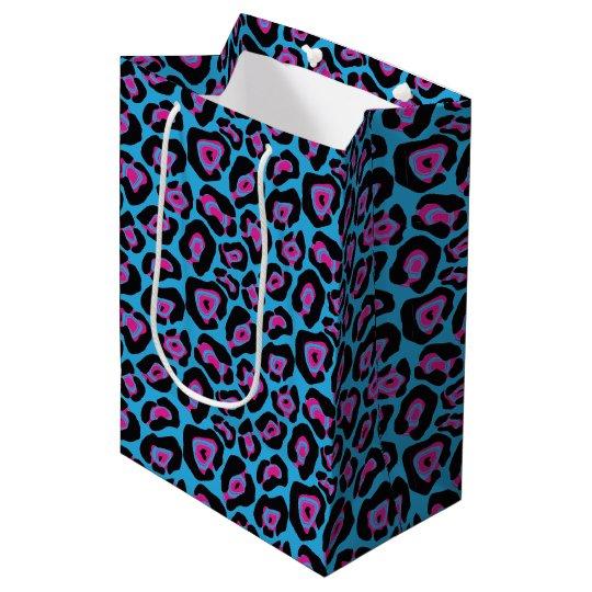 Blue & Pink Leopard Print Gift Bag
