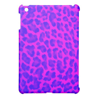 Blue & Pink Leopard Print iPad Mini Cover