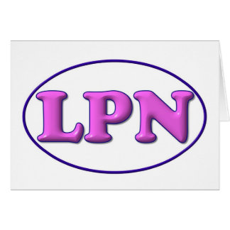 Blue Pink LPN Greeting Card