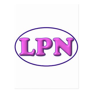 Blue Pink LPN Post Card