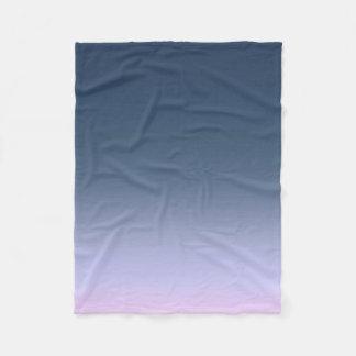 Blue-pink Ombre . Fleece Blanket