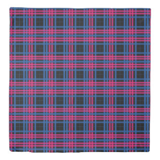 Blue & Pink Plaid Duvet Cover
