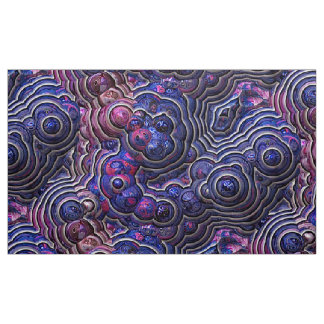 Blue pink purple abstract bubble cells fabric