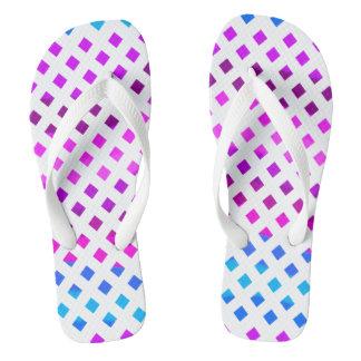 Blue Pink Purple Flip Flops