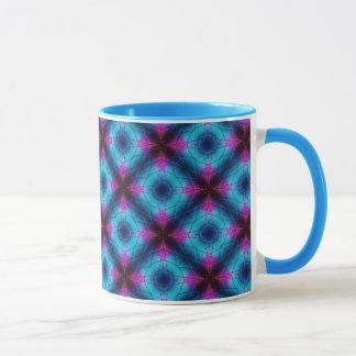 Blue, Pink, Purple Geometric Pattern Mug