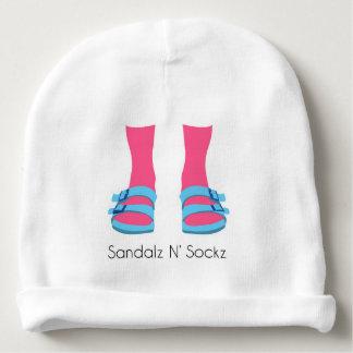 Blue/Pink Sandalz N' Sockz Baby Beanie