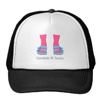 Blue/Pink Sandalz N' Sockz Trucker Hat