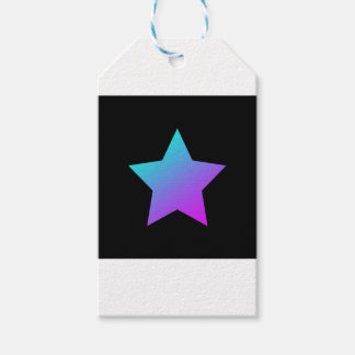 Blue/pink Star on black Gift Tags