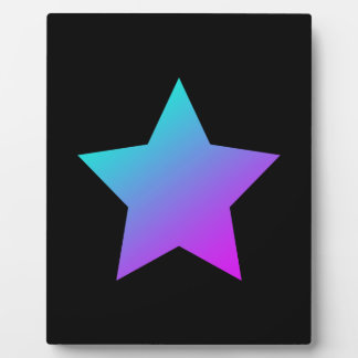 Blue/pink Star on black Plaque