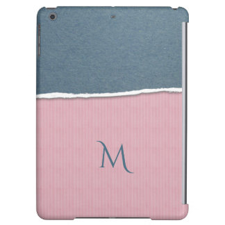 Blue & Pink Texture custom monogram device cases Case For iPad Air