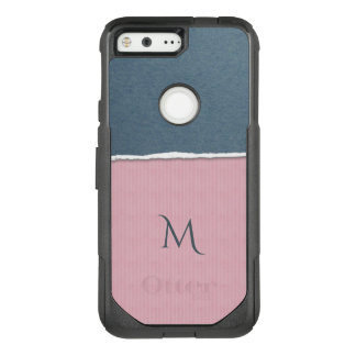 Blue & Pink Texture custom monogram phone cases