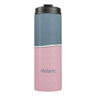 Blue & Pink Texture custom name tumbler