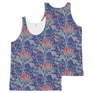 blue pink thistle All-Over-Print tank top