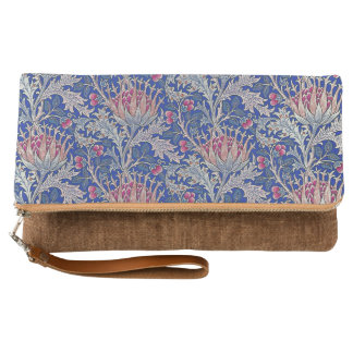 blue pink thistle clutch
