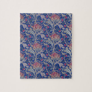 blue pink thistle jigsaw puzzle