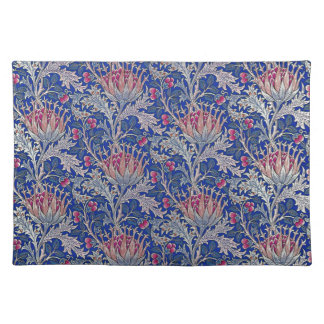 blue pink thistle placemat