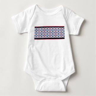 Blue Pink Triangle Print Baby Bodysuit