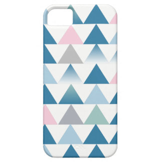 Blue pink triangles iPhone 5 case