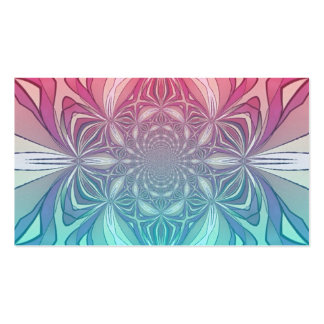 Blue Pink Vintage Abstract Geometric Pattern Business Card