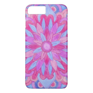 Blue & Pink Watercolor Mandala Design 26 iPhone 7 Plus Case