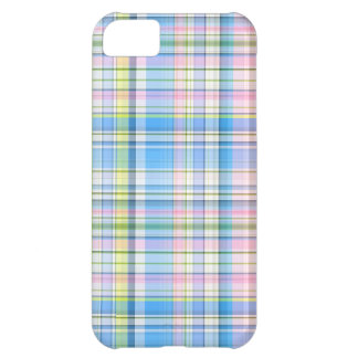 Blue Pink Yellow Wht Preppy Madras iPhone 5C Covers