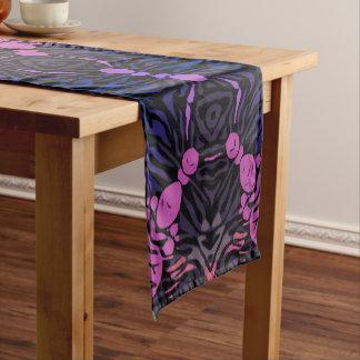 Blue Pink Zebra Short Table Runner
