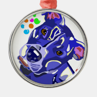 Blue Pit Bull Terrier Christmas Tree Ornament