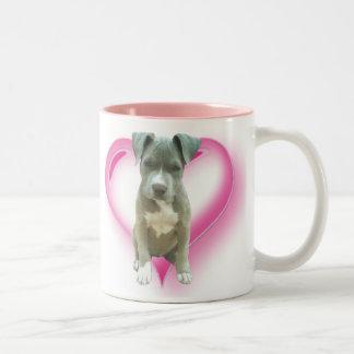 Blue pitbull puppy mug
