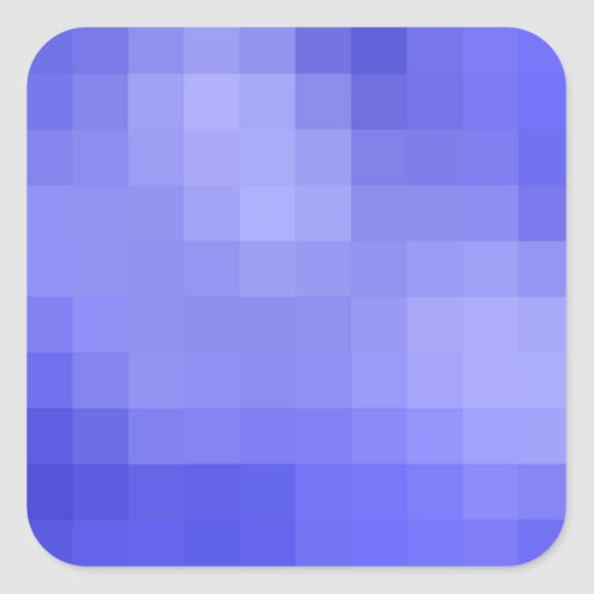 Blue Pixel Sticker