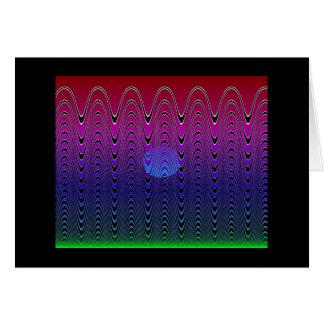 Blue Pixel Sunset #7 (card) Card