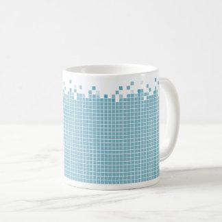 Blue Pixels Geek Coffee Mug