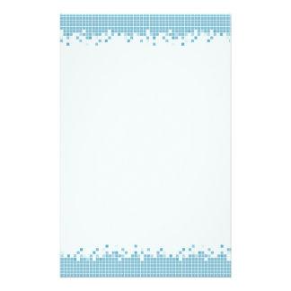 Blue Pixels stationery