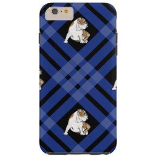 Blue Plaid Bulldog Tough iPhone 6 Plus Case