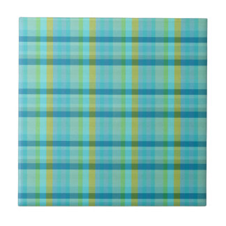 Blue Plaid by Shirley Taylor Tile