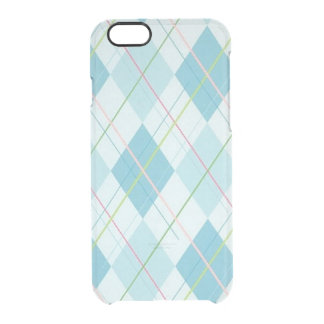 Blue Plaid Clear iPhone 6/6S Case