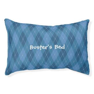 Blue Plaid Custom Dog Bed Small Dog Bed